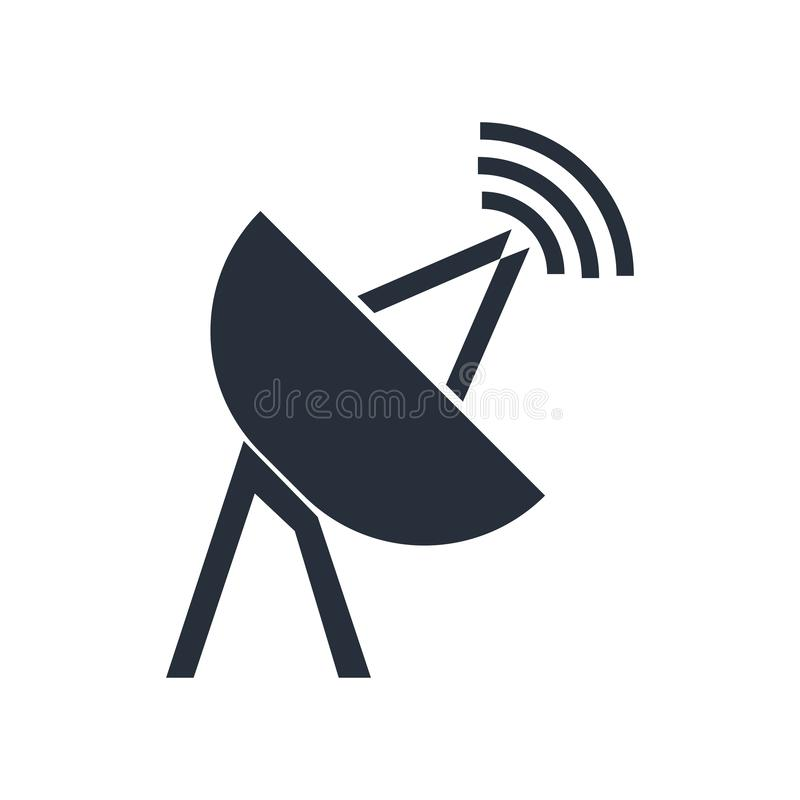 Satelite antenna icon vector sign and symbol isolated on white background, Satelite antenna logo concept royalty free illustration