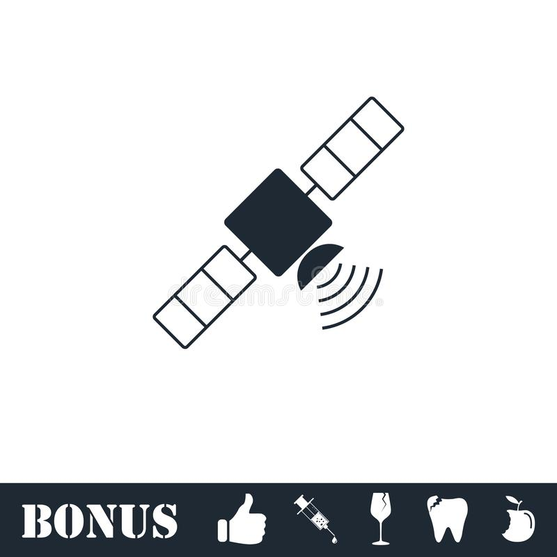 Satelite icon flat vector illustration