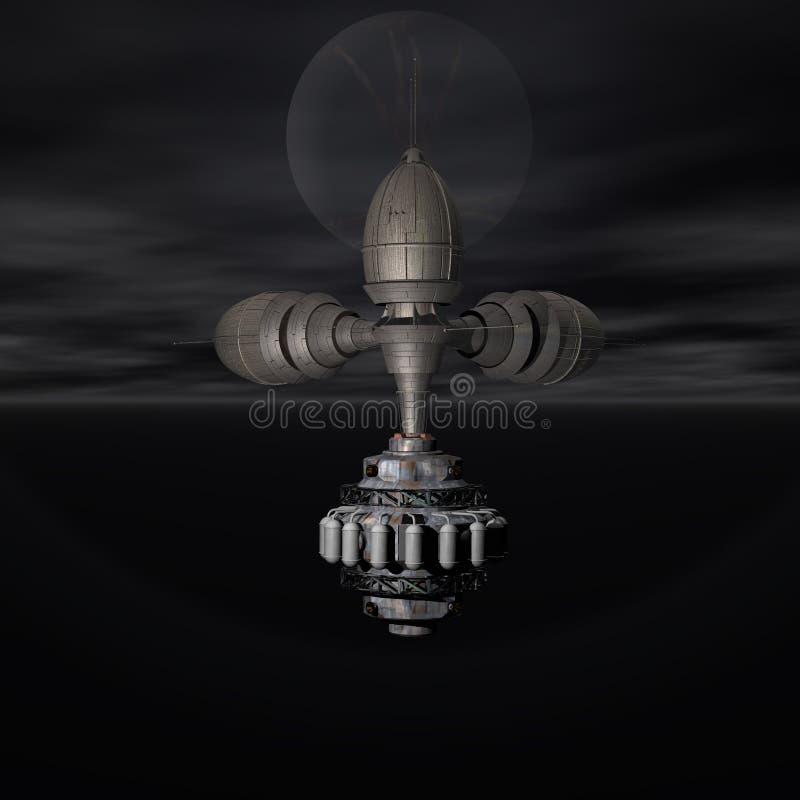 Download Satelite Sputnik Orbiting Earth Stock Illustration - Illustration: 9572102