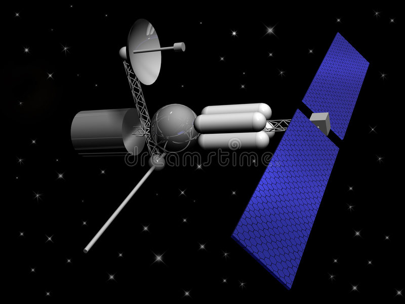 Satelliet stock illustratie