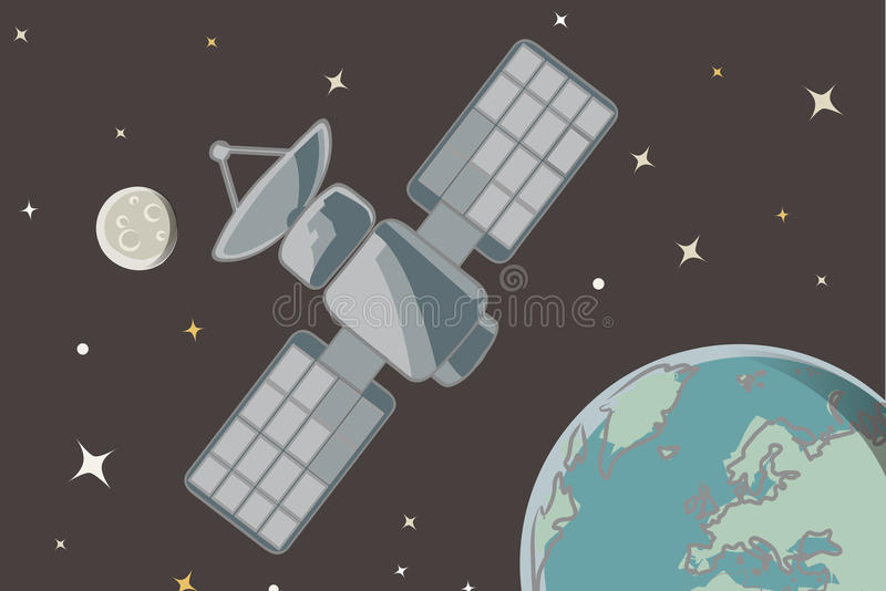 Satelliet vector illustratie