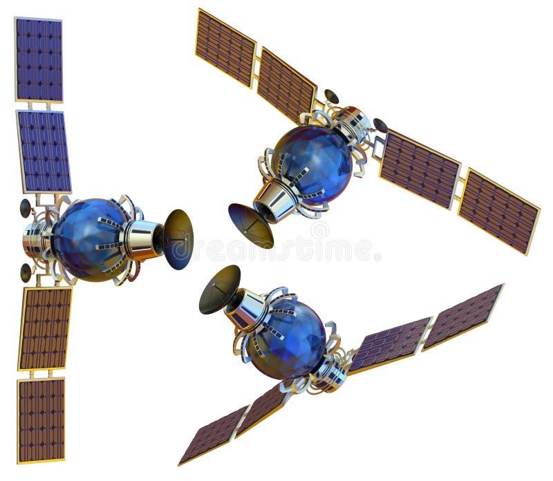 Satelliet royalty-vrije stock afbeelding
