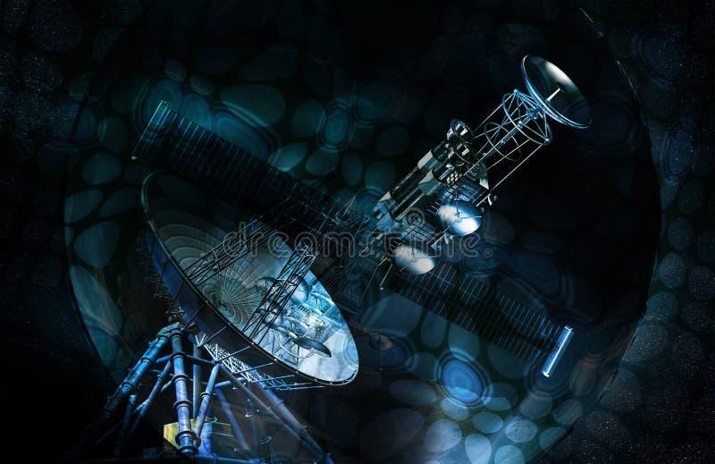 Satelliet vector illustratie
