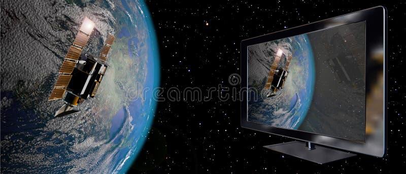 Satelliet aansluting vector illustratie