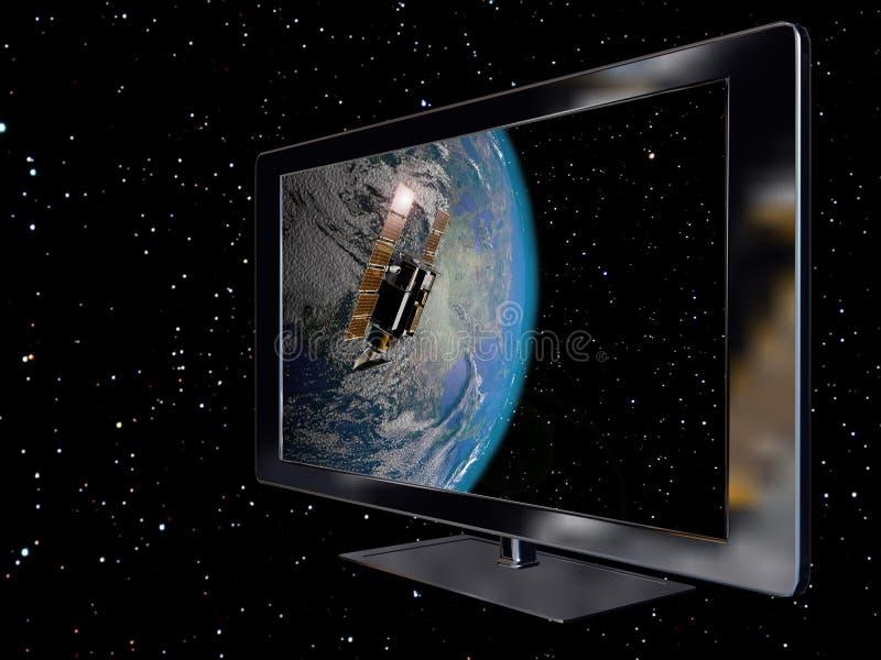 Satelliet aansluting stock illustratie
