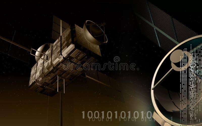 Satelliet achtergrond royalty-vrije illustratie