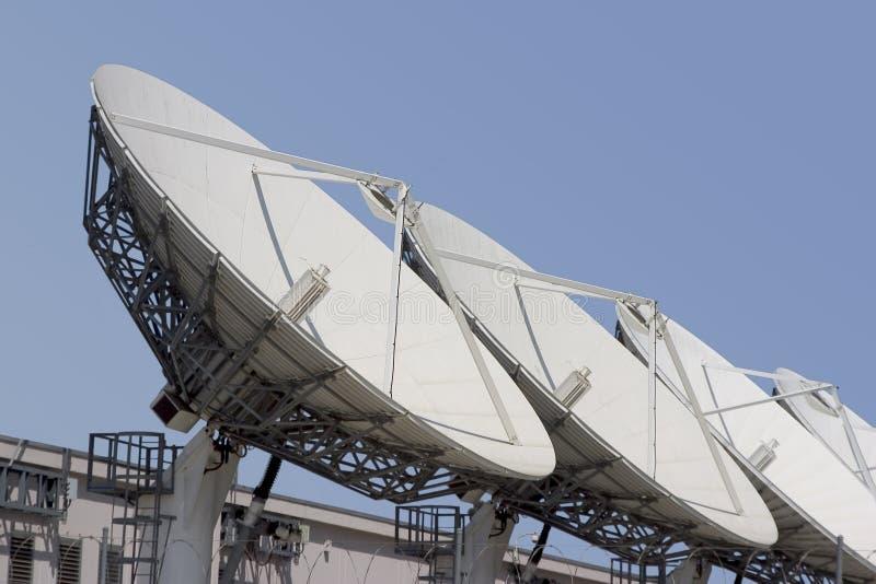 Satelliet Schotel #1 stock afbeelding