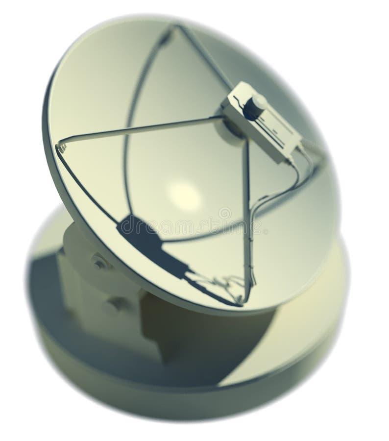 Satelliet schotel stock illustratie