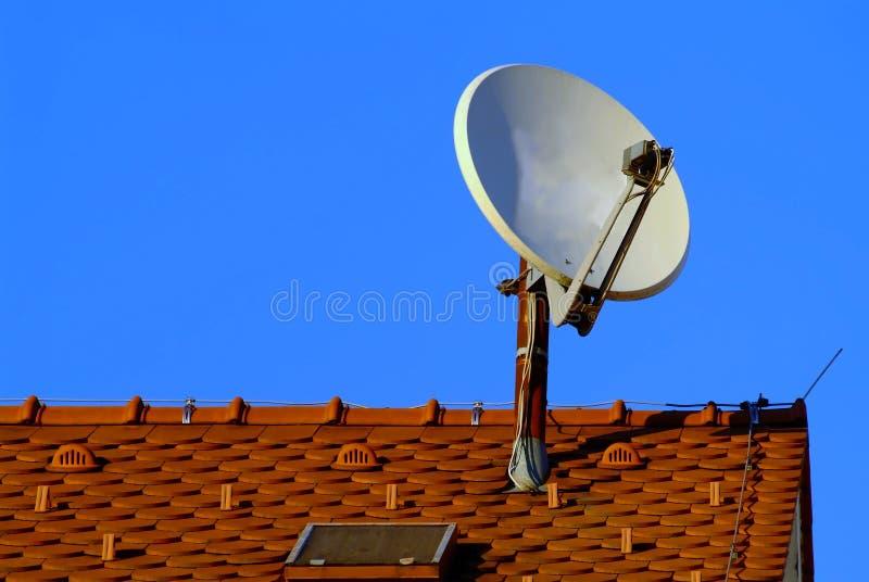 Satelliet schotel royalty-vrije stock foto