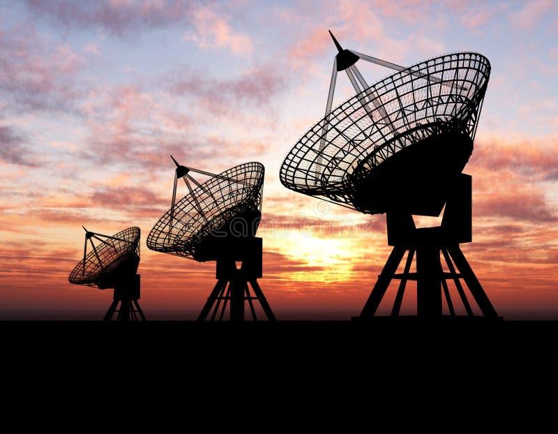 Download Satelliet Schotels stock foto. Afbeelding bestaande uit broadcasting - 5171856