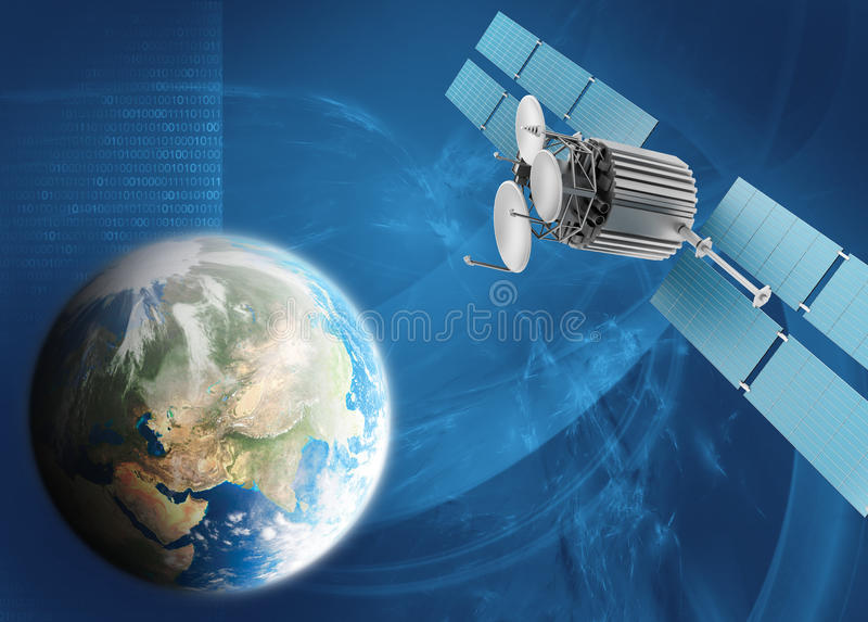 Satelliet TV vector illustratie