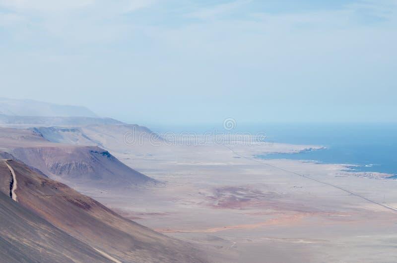 Satellietbeeld aan de bergen van de woestijn royalty-vrije stock afbeeldingen