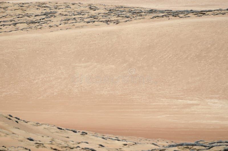 Satellietbeeld aan het zand van de woestijn stock fotografie