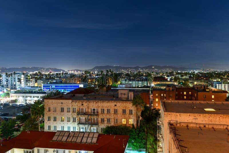 Satellietbeeld Los Angeles, Californië stock fotografie