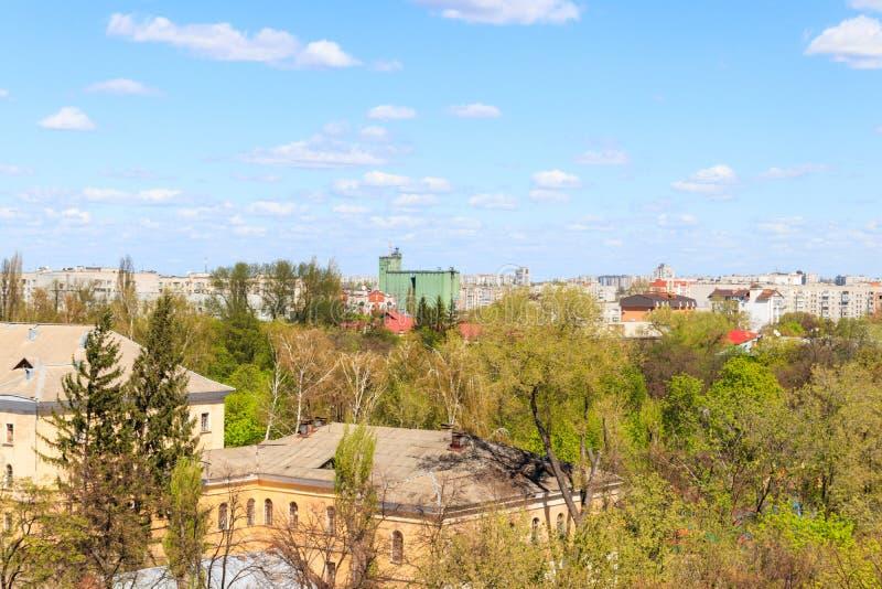 Satellietbeeld op stad Kremenchug in de Oekra?ne stock foto