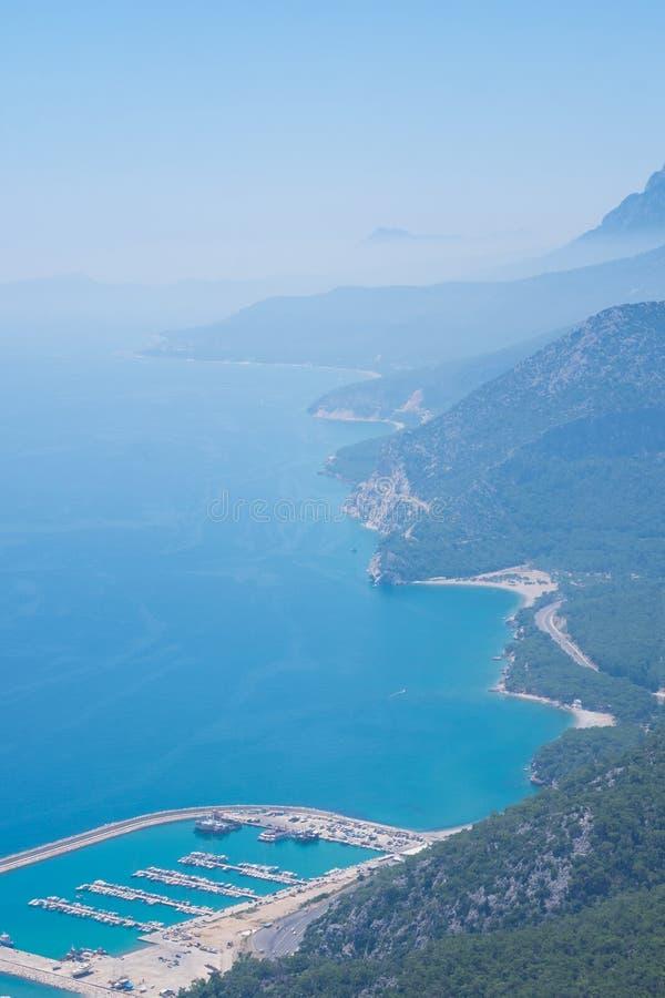Satellietbeeld op Stierbergen in Antalya, Turkije royalty-vrije stock fotografie