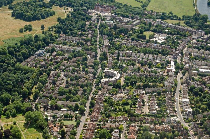 Satellietbeeld Richmond Upon Thames, Londen stock foto's