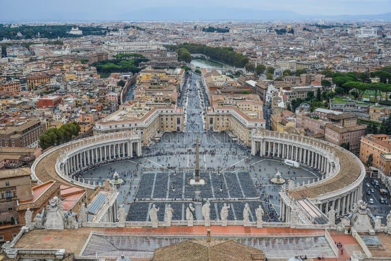 Satellietbeeld St Peter Square Piazza San Pietro royalty-vrije stock afbeeldingen