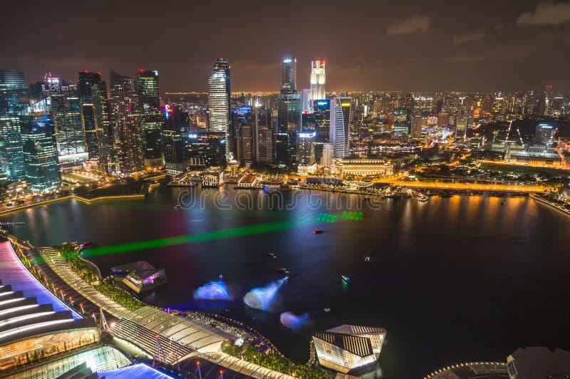 Satellietbeeld van van Bedrijfs Singapore Centraal District met bureaugebouwen royalty-vrije stock afbeeldingen