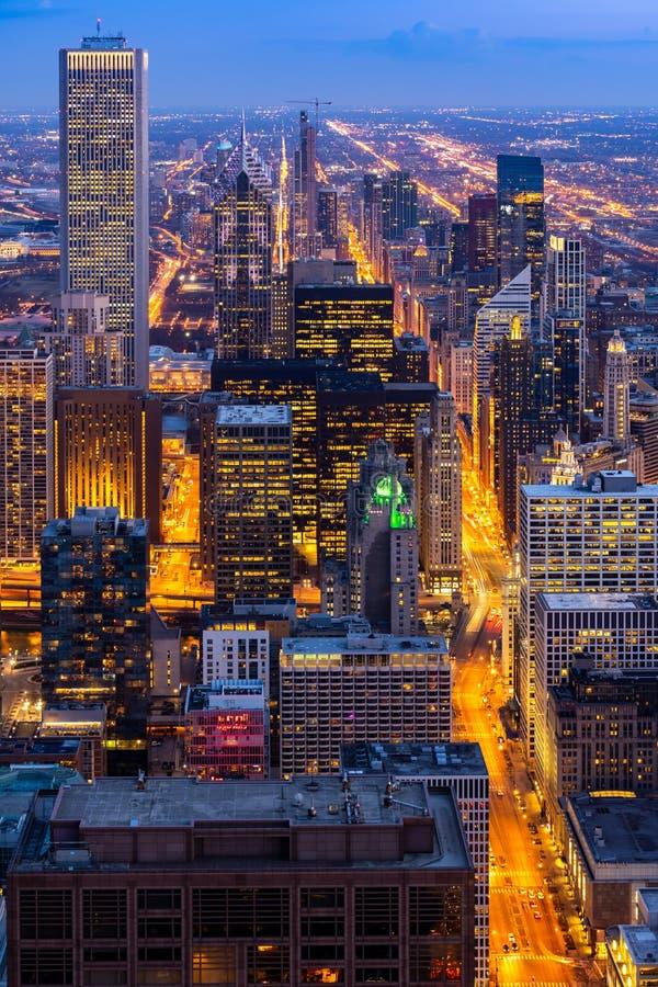 Satellietbeeld van de Horizonnenzuiden van Chicago royalty-vrije stock fotografie