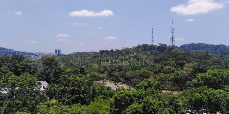 Satellietbeeld van de stad van Bukit Batok stock fotografie
