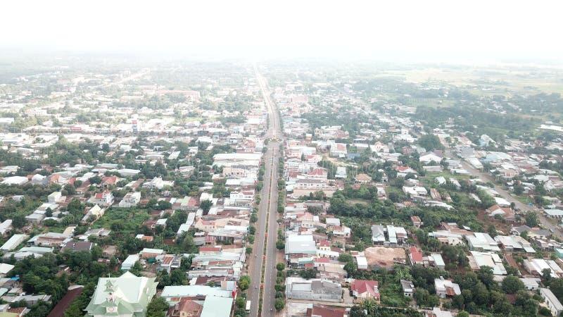 Satellietbeeld van de Stad van Ngai Giao stock foto