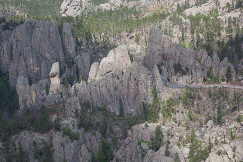 Satellietbeeld van de Tunnel van het Naaldenoog royalty-vrije stock afbeelding
