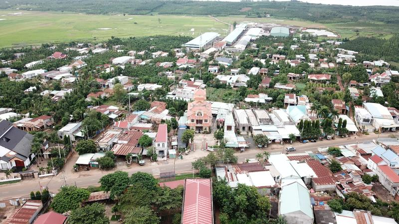 Satellietbeeld van Khanh Tan Pagoda royalty-vrije stock foto