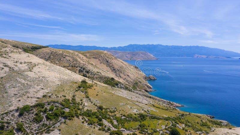 Satellietbeeld van kust in Kroatië royalty-vrije stock foto