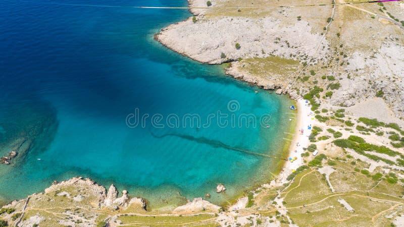 Satellietbeeld van strand in Kroatië royalty-vrije stock foto's