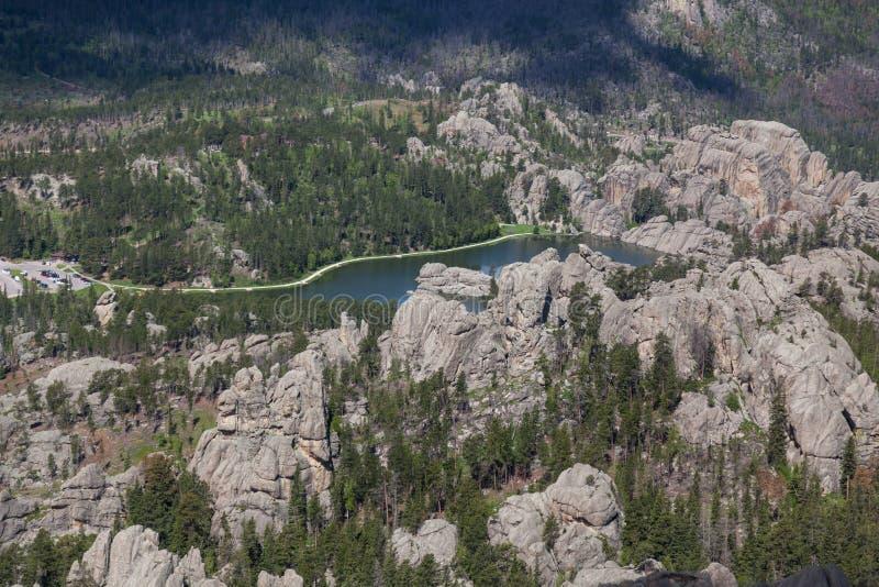 Satellietbeeld van Sylvan Lake, BR royalty-vrije stock afbeelding