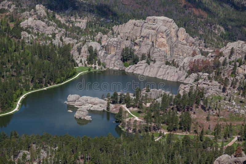Satellietbeeld van Sylvan Lake, BR royalty-vrije stock fotografie