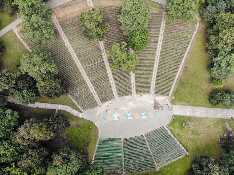 Satellietbeeld van Vallei van liederen in Kaunas, Litouwen stock foto