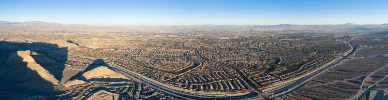 Satellietbeeld van Woonwijk dichtbij Las Vegas royalty-vrije stock foto