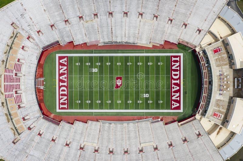 Satellietbeelden van Memorial Stadium op de Campus van Indiana University royalty-vrije stock foto's