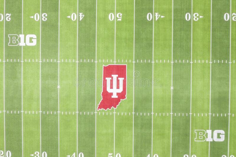 Satellietbeelden van Memorial Stadium op de Campus van Indiana University stock foto's