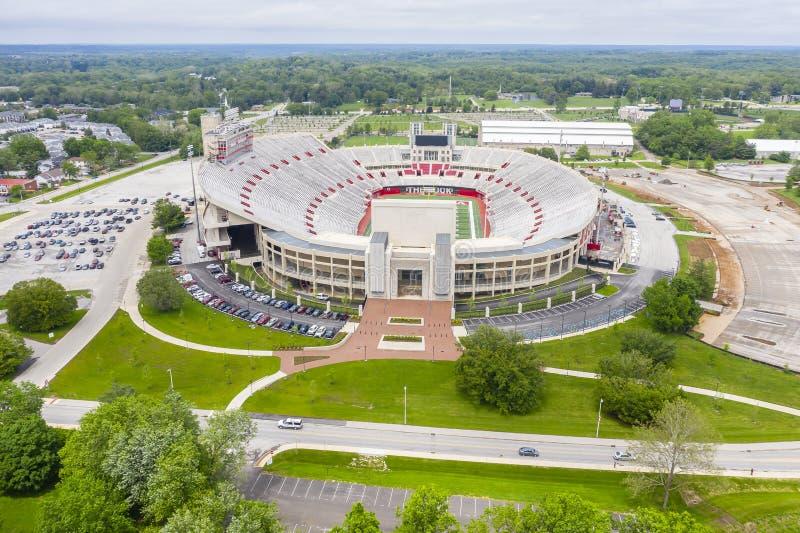 Satellietbeelden van Memorial Stadium op de Campus van Indiana University royalty-vrije stock afbeelding