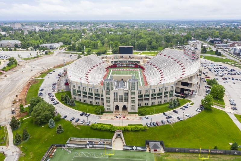 Satellietbeelden van Memorial Stadium op de Campus van Indiana University stock afbeelding