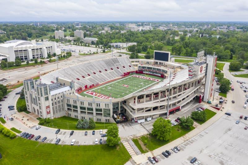 Satellietbeelden van Memorial Stadium op de Campus van Indiana University stock foto