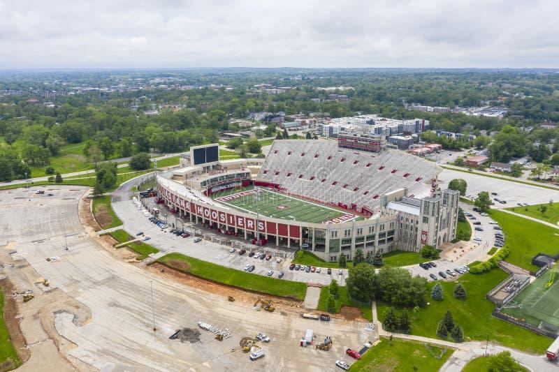 Satellietbeelden van Memorial Stadium op de Campus van Indiana University royalty-vrije stock afbeeldingen