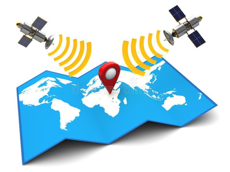 Satellietnavigatie royalty-vrije illustratie