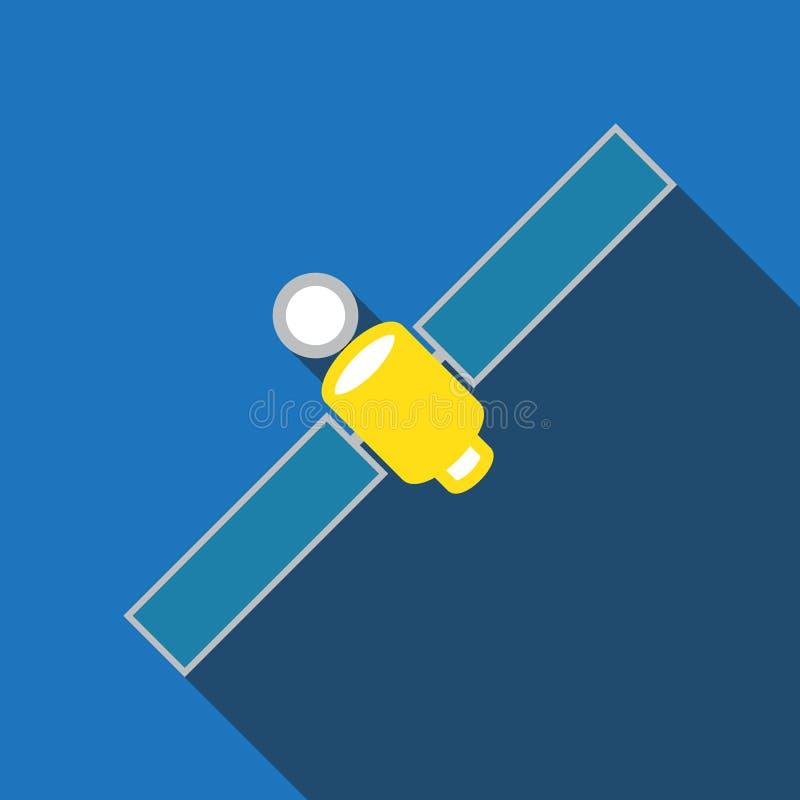 Satellietpictogramreeks stock illustratie