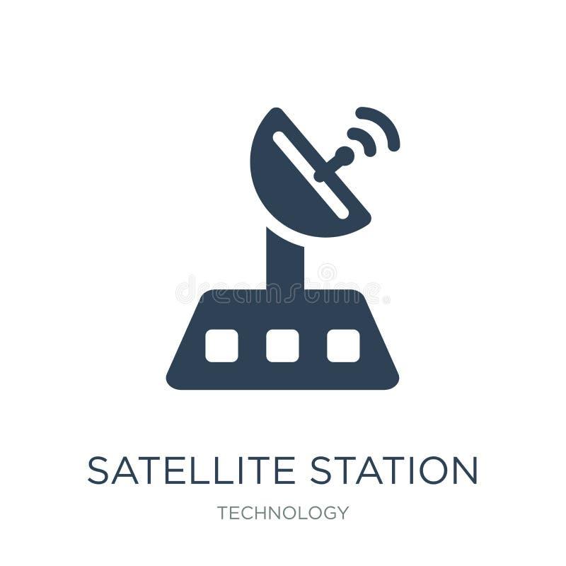 satellietpostpictogram in in ontwerpstijl satellietdiepostpictogram op witte achtergrond wordt geïsoleerd satellietpost vectorpic vector illustratie
