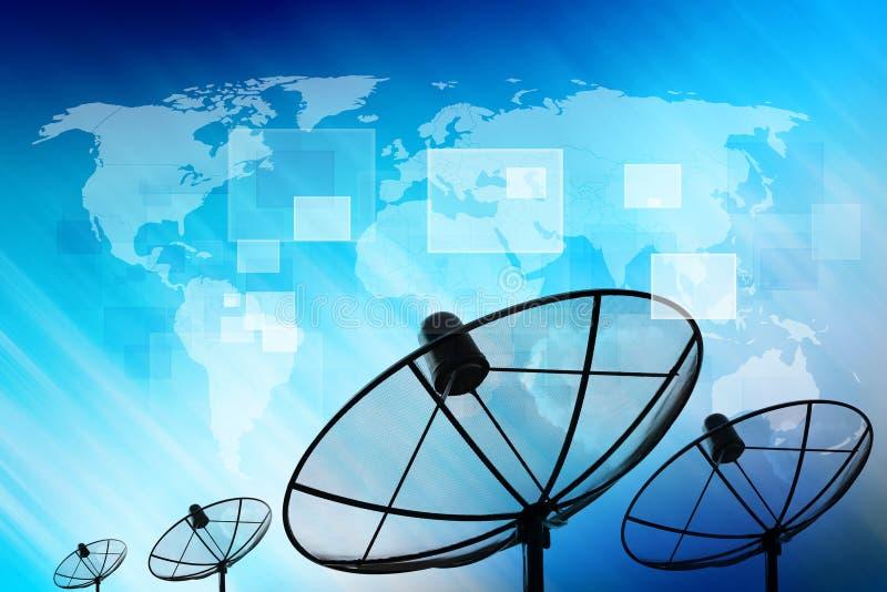 Satellietschotel stock illustratie