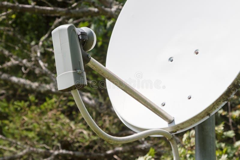 Satellietschotel - TV stock foto