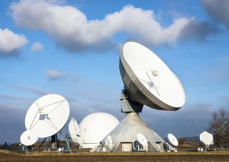 Satellietschotels royalty-vrije stock fotografie