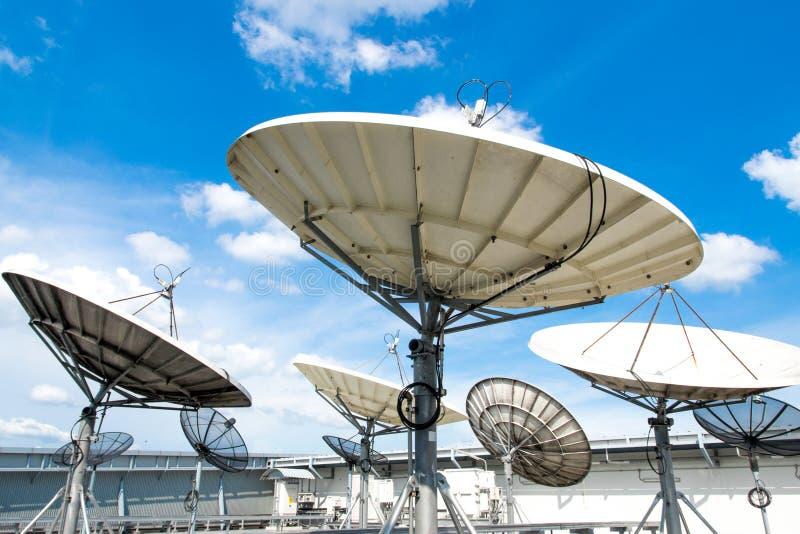 Satellietschotels stock foto