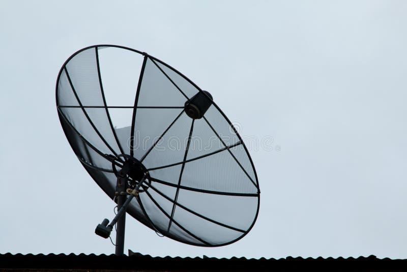 Satellietschotelscommunicatietechnologie royalty-vrije stock afbeeldingen