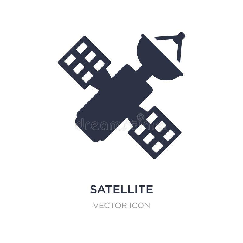 satellietverbindingspictogram op witte achtergrond Eenvoudige elementenillustratie van Technologieconcept stock illustratie