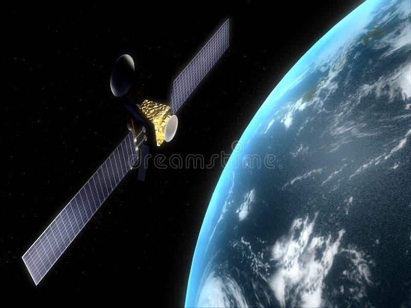 satellit vektor illustrationer